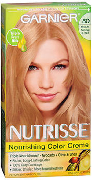 Garnier Nutrisse Haircolor - 80 Butternut (Medium Natural Blonde)