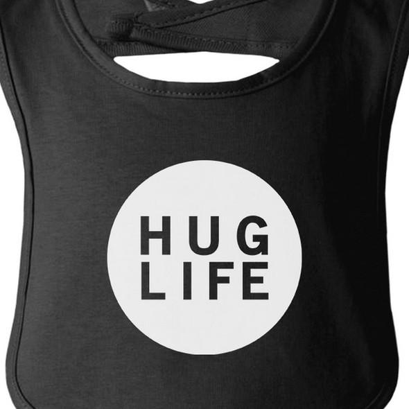 Hug Life Black Baby Bib Infant Bibs Gifts Ideas For Baby Shower