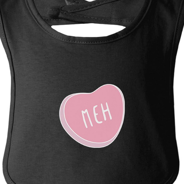 Meh Heart Black Baby Bib Infant Bibs Gifts Ideas For Baby Shower