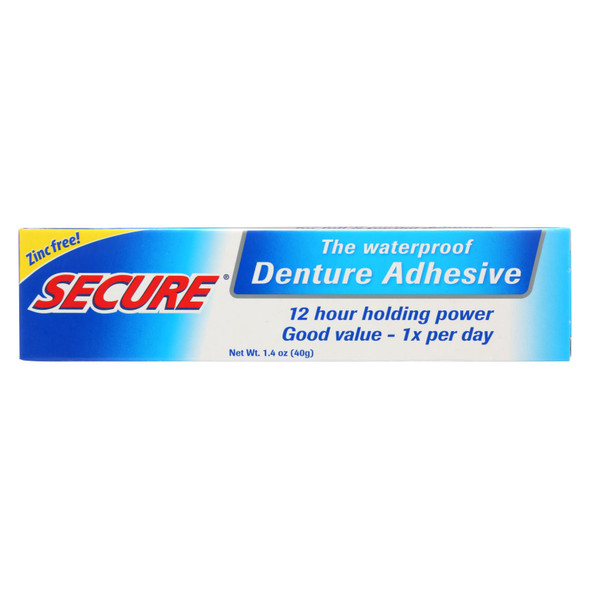 Secure Denture Adhesive - 1.4 Oz
