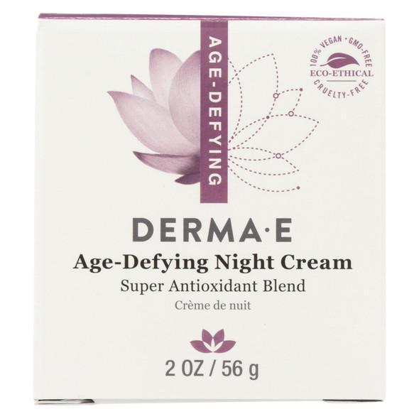 Derma E Age-defying Night Creme With Astaxanthin And Pycnogenol - 2 Oz