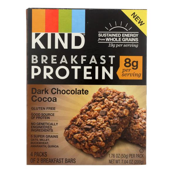 Kind Breakfast Protein Bars - Dark Chocolate Cocoa - Case Of 8 - 4-1.76oz