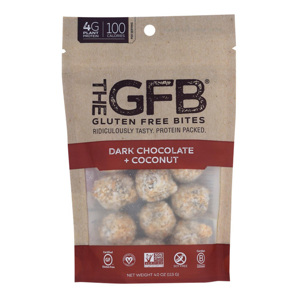 The Gluten Freeb Bites - Dark Chocolate Coconut - Case Of 6 - 4 Oz