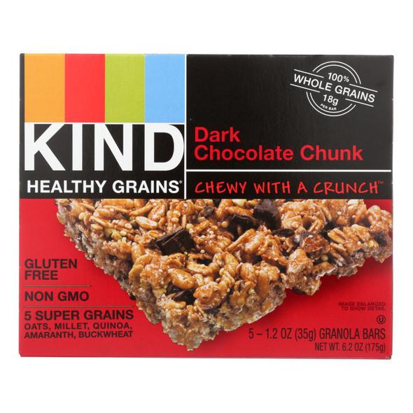 Kind Bar - Granola - Healthy Grains - Dark Chocolate Chunk - 5-1.2 Oz - Case Of 8