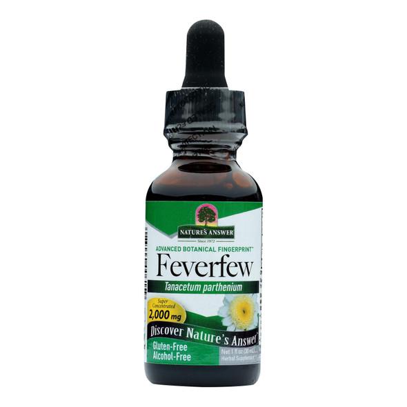 Nature's Answer Feverfew Leaf Alcohol Free - 1 Fl Oz