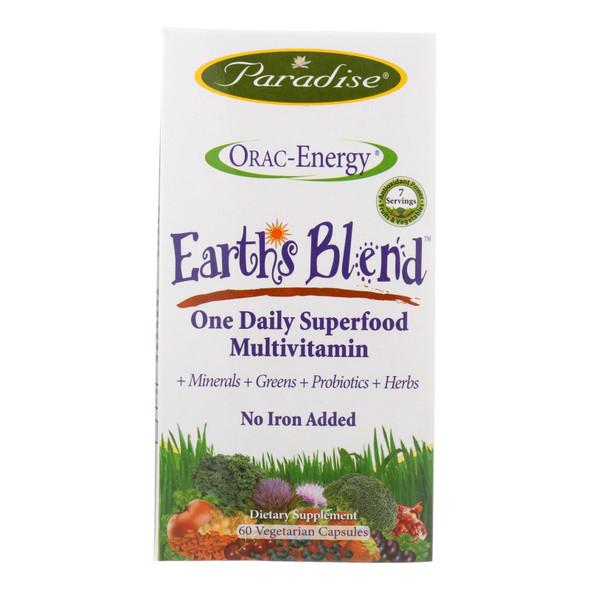 Paradise Herbs Orac-energy Multi Without Iron - 60 Vcaps