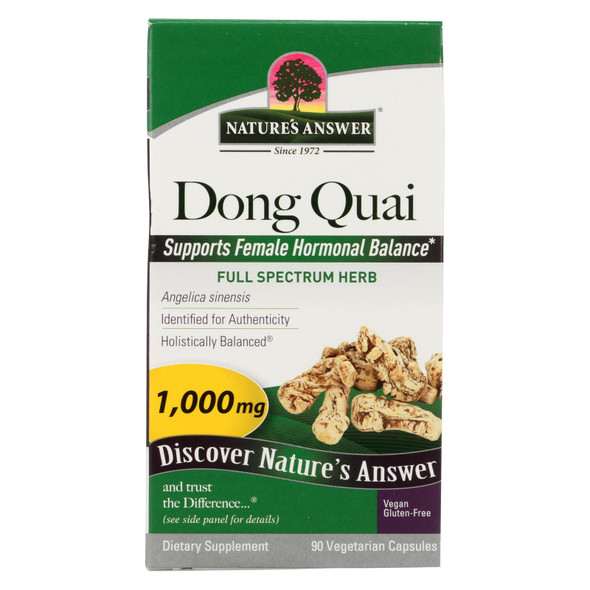 Nature's Answer Dong Quai Root Extract - 90 Vegetarian Capsules