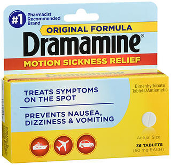 Dramamine Motion Sickness Relief Tablets Original Formula - 36 ct