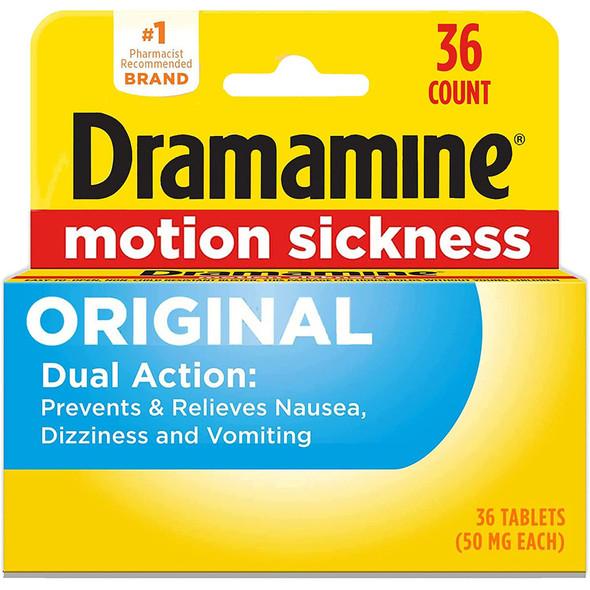 Dramamine Motion Sickness Relief Tablets Original Formula - 36 ct