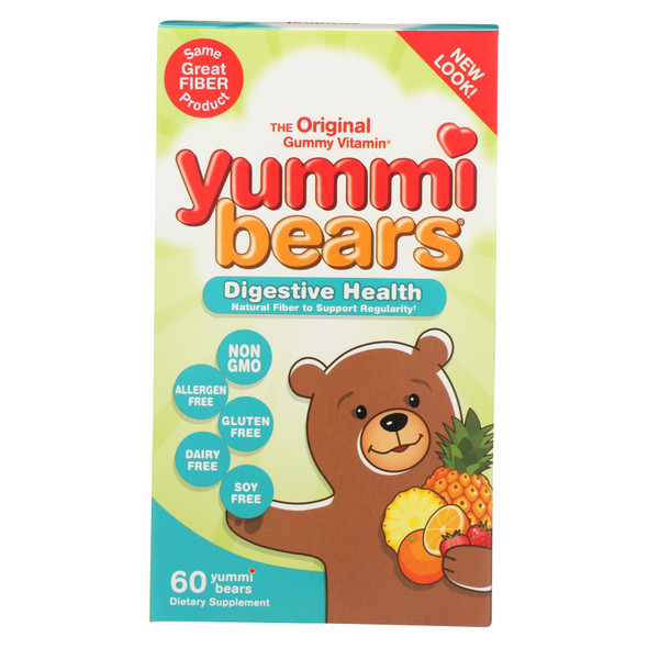 Hero Nutritionals Yummi Bears Fiber Supplement For Kids - 60 Gummies