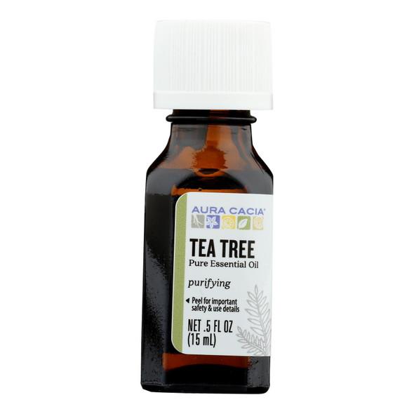 Aura Cacia Pure Essential Oil Tea Tree - 0.5 Fl Oz