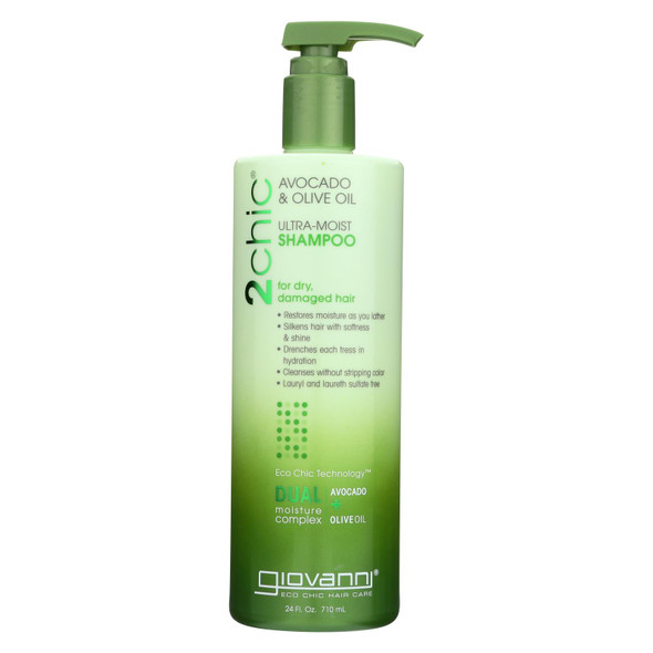 Giovanni Hair Care Products Shampoo - 2chic Avocado And Olive Oil - 24 Fl Oz