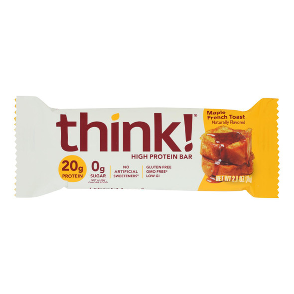 Think Products High Protein Bar - Maple Almond - Case Of 10 - 2.1 Oz.