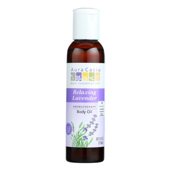 Aura Cacia Aromatherapy Body Oil Lavender Harvest - 4 Fl Oz
