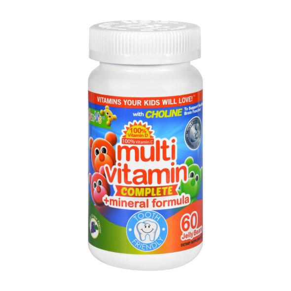 Yum V's Multi Vitamin Plus Mineral Formula Jellies Yummy Grape - 60 Chewables