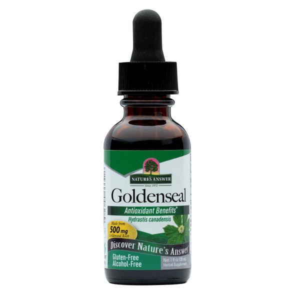 Nature's Answer Goldenseal Root Alcohol Free - 1 Fl Oz