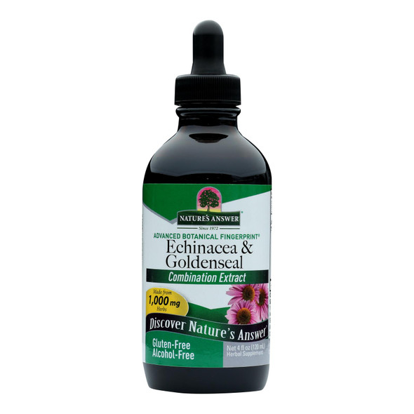 Nature's Answer Echinacea And Goldenseal - 4 Fl Oz