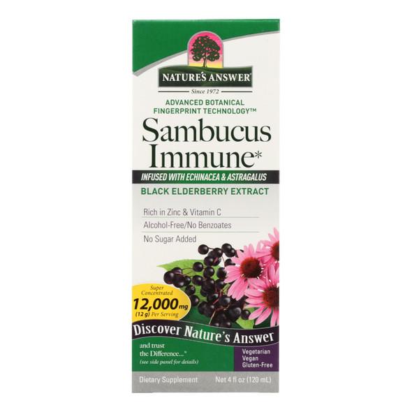 Nature's Answer Sambucus Immune Support - 4 Fl Oz