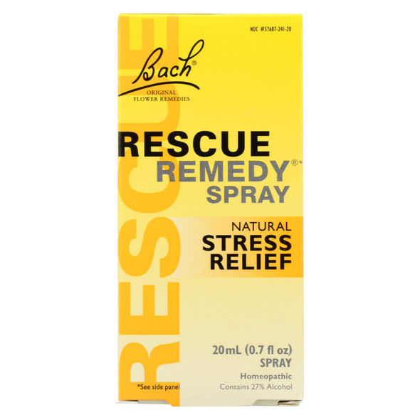 Bach Flower Remedies Essences Rescue Remedy Spray Original Flower - 0.7 Fl Oz