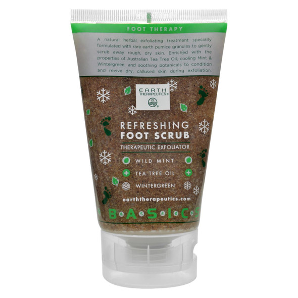 Earth Therapeutics Refreshing Foot Scrub Wild Mint - 4 Fl Oz