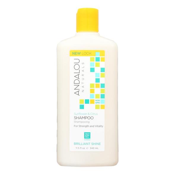 Andalou Naturals Brilliant Shine Shampoo Sunflower And Citrus - 11.5 Fl Oz