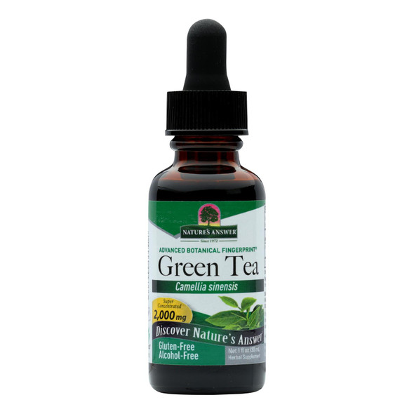 Nature's Answer Green Tea Alcohol Free - 1 Fl Oz