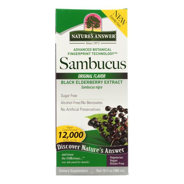 Natures Answer Sambucus - Original - Family Size - 16 Oz