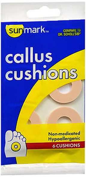 Sunmark Callus Cushions Non-Medicated - 6 ct