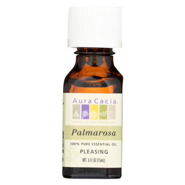 Aura Cacia Pure Essential Oil Palmarosa - 0.5 Fl Oz