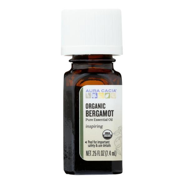 Aura Cacia Organic Bergamot - .25 Oz