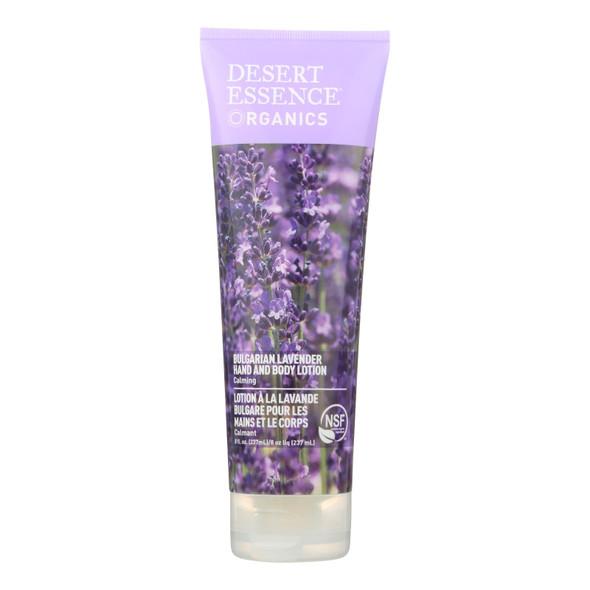 Desert Essence Hand And Body Lotion Bulgarian Lavender - 8 Fl Oz
