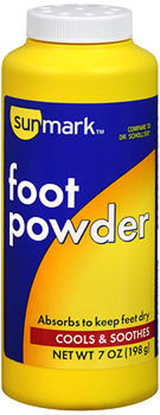 Sunmark Foot Powder - 7 oz