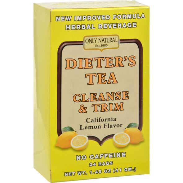 Only Natural Cleansing Diet Tea - Lemon - 24 Bags