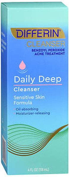 Differin Daily Deep Cleanser Sensitive Skin Formula - 4 oz