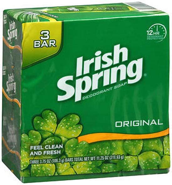 Irish Spring Deodorant Soap Original - 3 ea