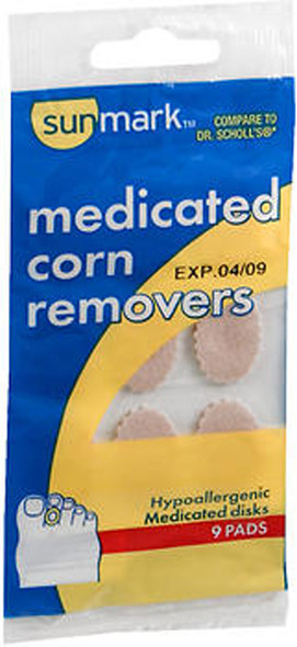 Sunmark Medicated Corn Removers 9 Pads