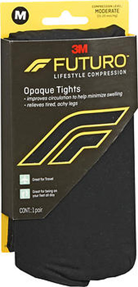 Futuro Lifestyle Compression Opaque Tights Moderate Medium Black 71070EN