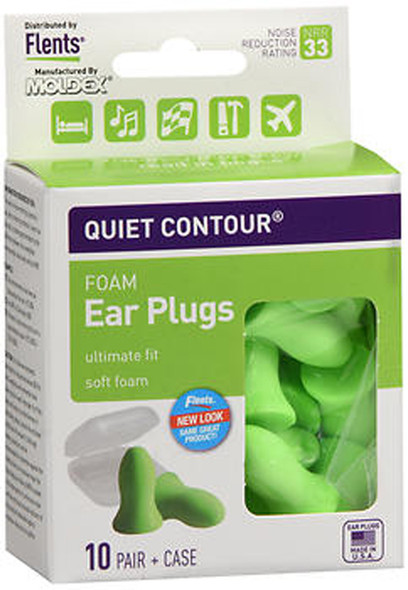 Flents Quiet Contour Foam Ear Plugs - 10 pairs