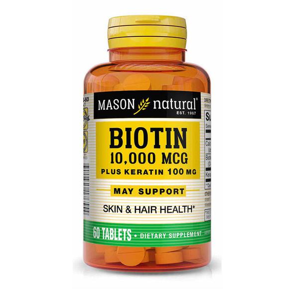 Mason Biotin 10000MG Plus Keratin 100MG - 60 ct
