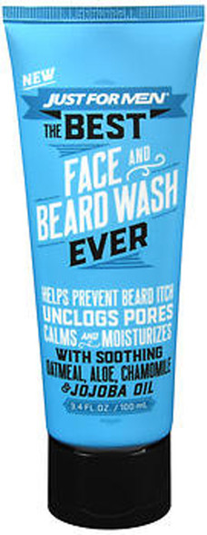Just for Men The Best Face and Beard Wash Ever - 3.4 oz