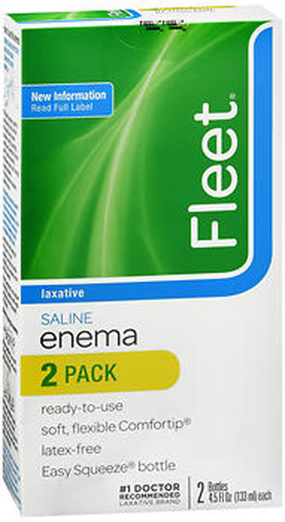 Fleet Enema, Ready-to-Use Saline Laxative, 2 - 4.5 oz