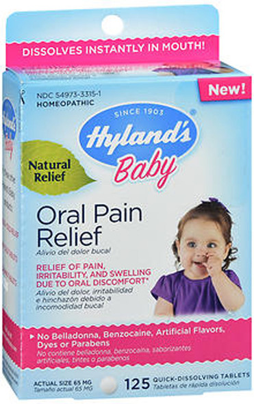Hyland's Baby Oral Pain Relief Quick-Dissolving Tablets - 125 ct