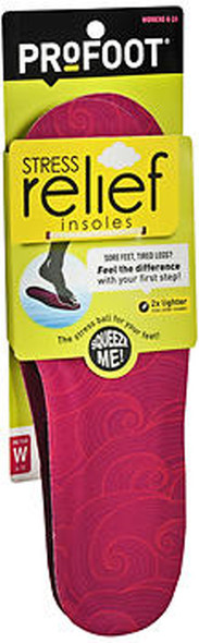 ProFoot Stress Relief Insoles Women's 6-10 - 1 PR