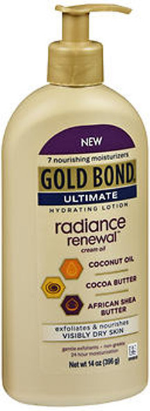 Gold Bond Ultimate Hydrating Lotion Radiance Renewal Cream Oil - 14 oz