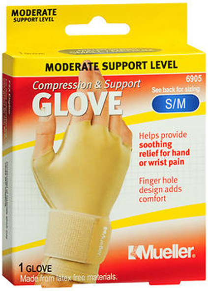 Mueller Compression & Support Glove SM/MD 6905 - 1 Glove