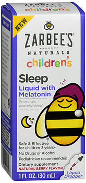 Zarbee's Naturals Children's Sleep Liquid with Melatonin Natural Berry Flavor - 1 oz