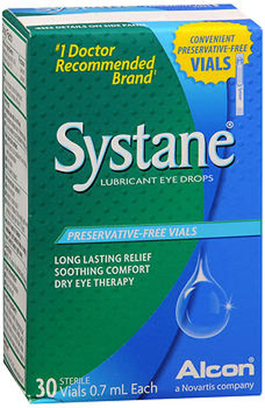 Systane Lubricant Eye Drops Vials - 30 ct