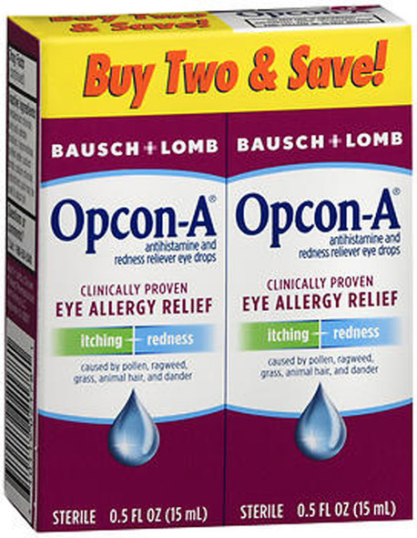 Bausch + Lomb Opcon-A Eye Allergy Relief Drops - 1 oz