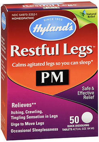 Hyland's Restful Legs PM Quick Dissolving Tablets - 50 Tablets