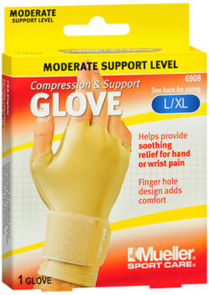 Mueller Sport Care Compression & Support Glove L/XL 6908 - 1 Glove